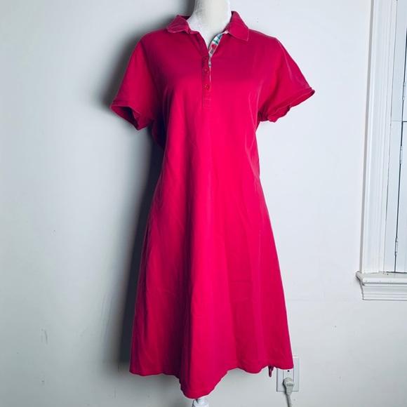 Lands' end dark pink polo dress plus size 1X